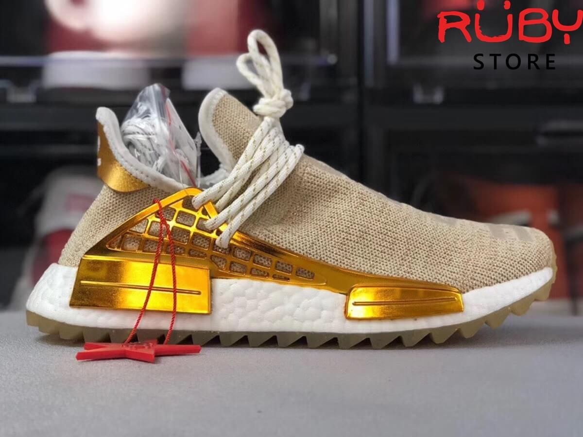 official photos 9df34 e69bf Giày Human Race Pharrell NMD Hu China Pack Happy Gold Replica 1:1