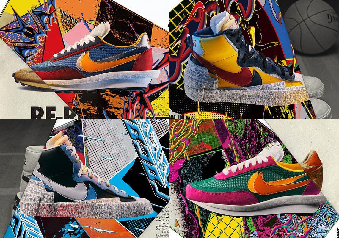 Các phiên bản giày Sacai x Nike ldv Waffle Day Break