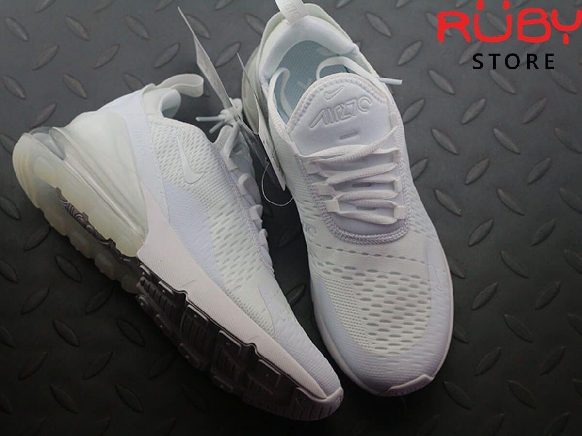 giày nike airmax 270 trắng full 2019