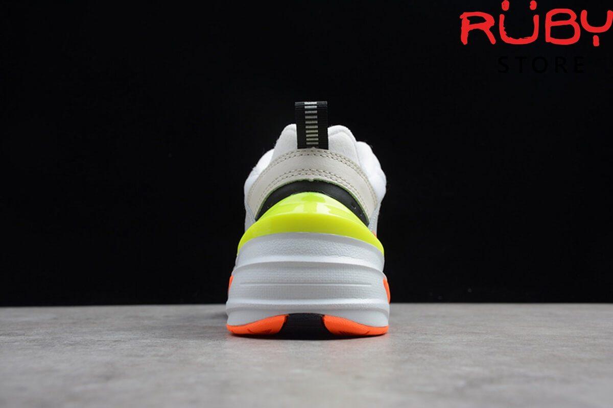 giày nike m2k tekno trắng cam vàng replica 1:1