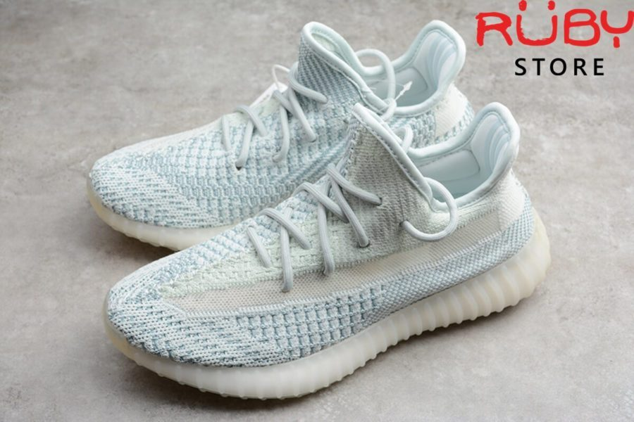 giày yeezy 350 v2 cloud white replica 1:1