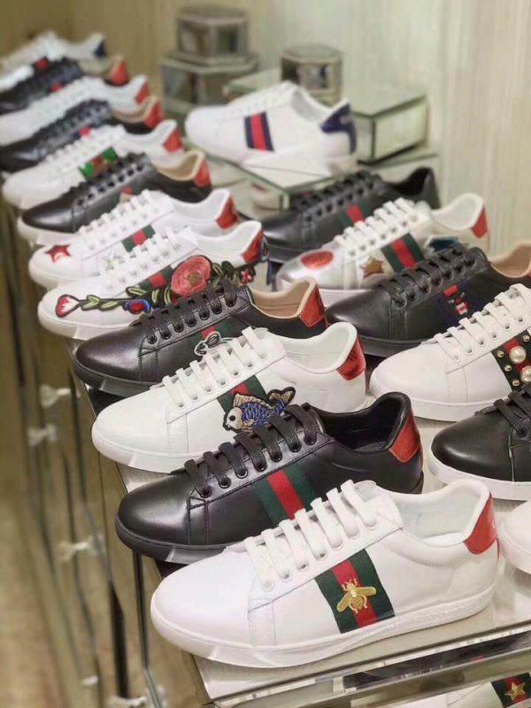 Top 11 giày Gucci trắng mới nhất 2019