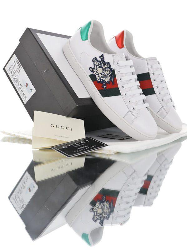 Giày Gucci 3 con heo - Giày Gucci trắng mới nhất 2019