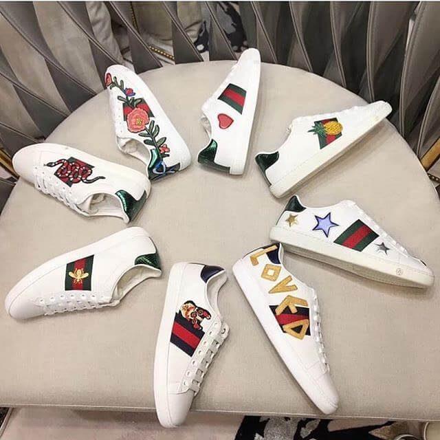Top 11 giày Gucci trắng mới nhất 2019 cho bạn chọn lựa | Ruby Store