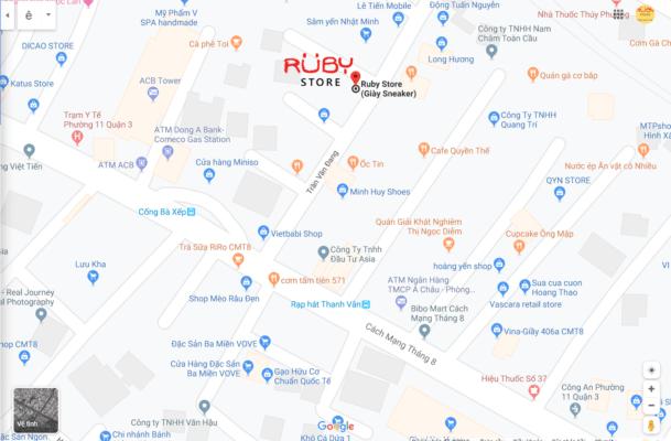 Bản đồ đến Ruby Store