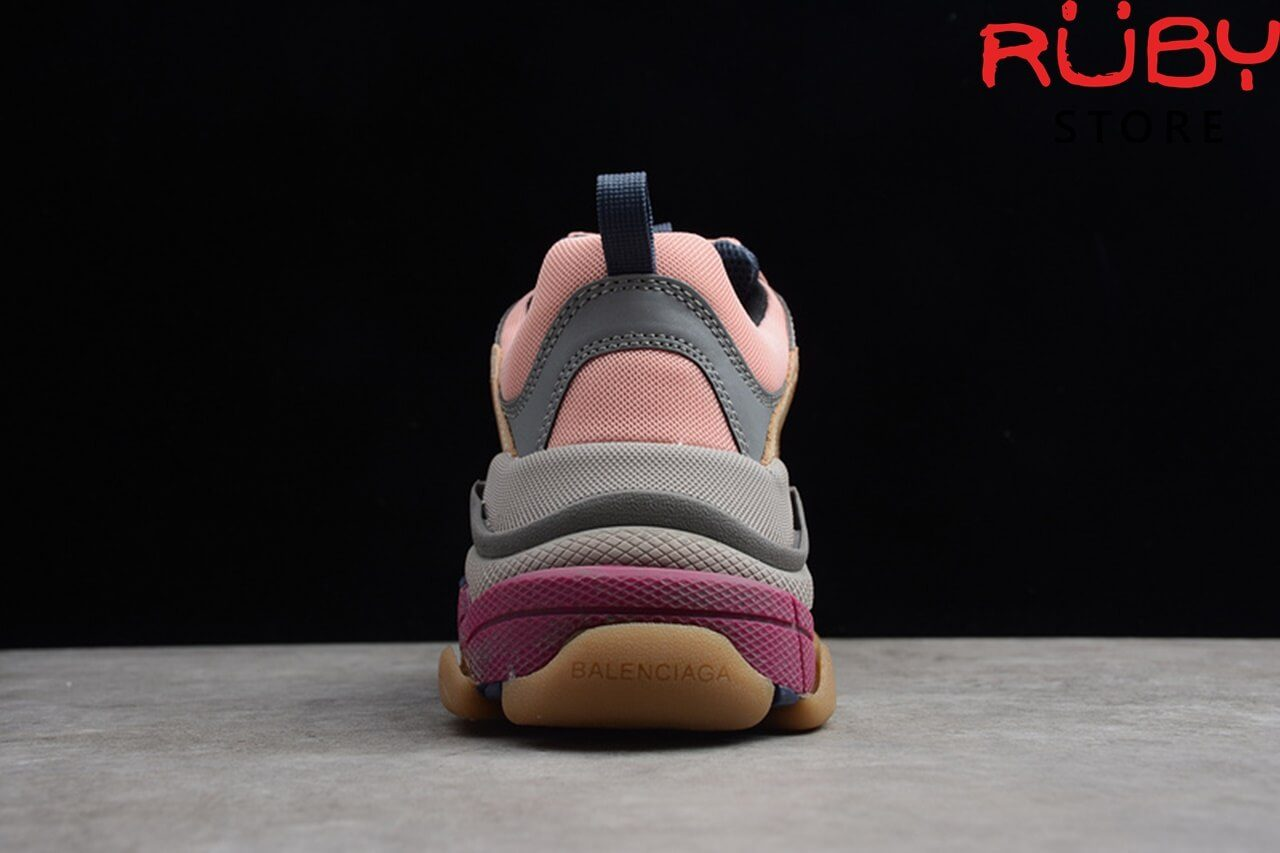 giày balenciaga triple s pink brown replica 1:1