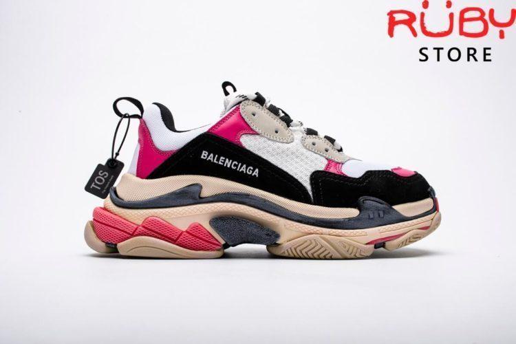 giày balenciaga triple s black pink replica 1:1 ở hcm
