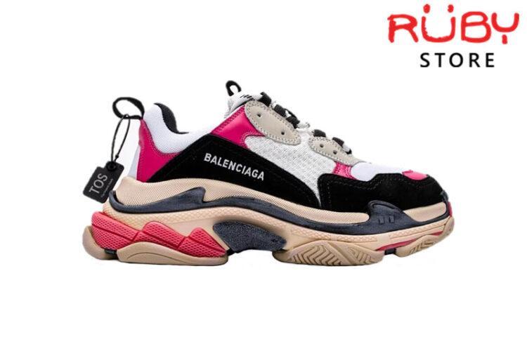 Giày Balenciaga Triple S Black Pink Replica 1:1
