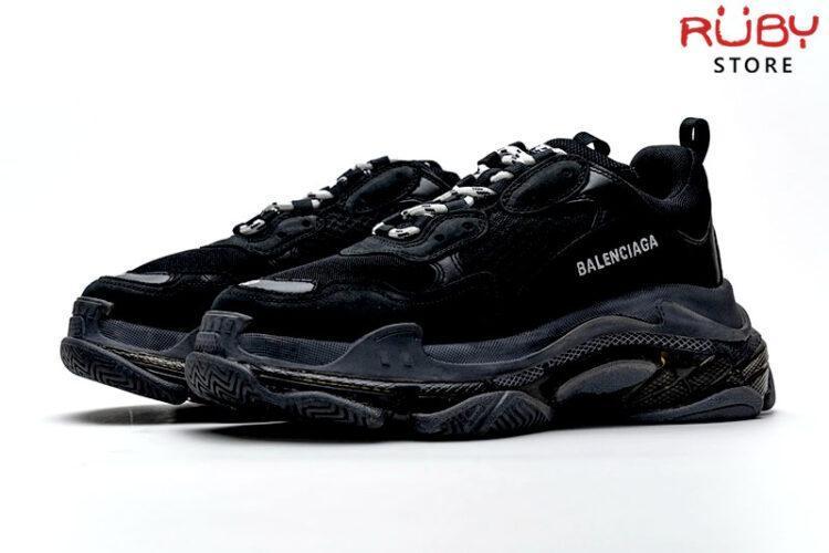 giày balenciaga triple s clear sole black replica 1:1 ở hcm