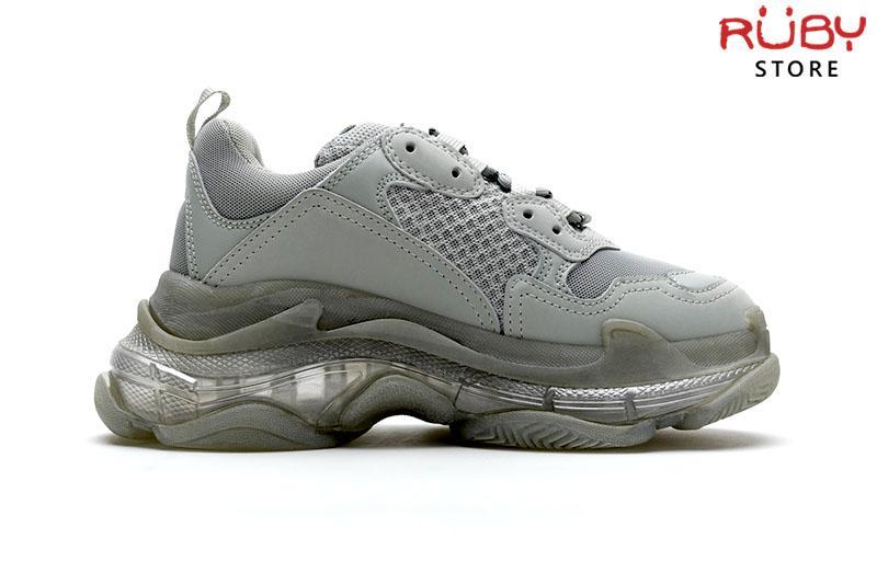 Giày Balenciaga Triple S Clear Sole xám replica 11 cao cấp