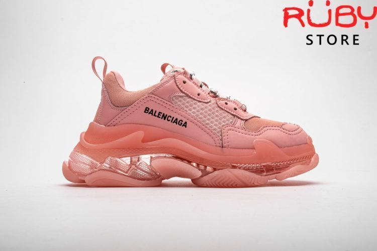 giày balenciaga triple s clear sole pink replica 1:1