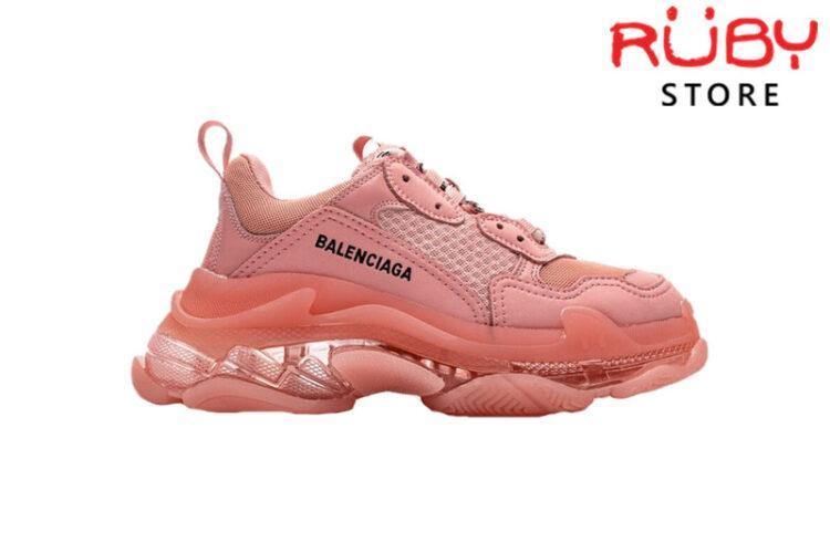 Giày Balenciaga Triple S Hồng Clear Sole Pink Replica 1:1
