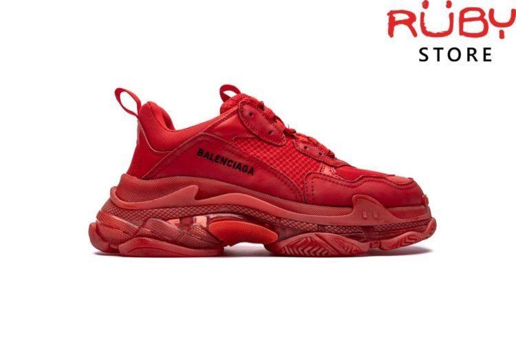 giày balenciaga triple s clear sole red replica 1:1 ở hcm
