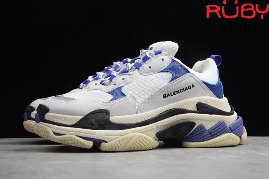 giày balenciaga triple s white purple replica 1:1