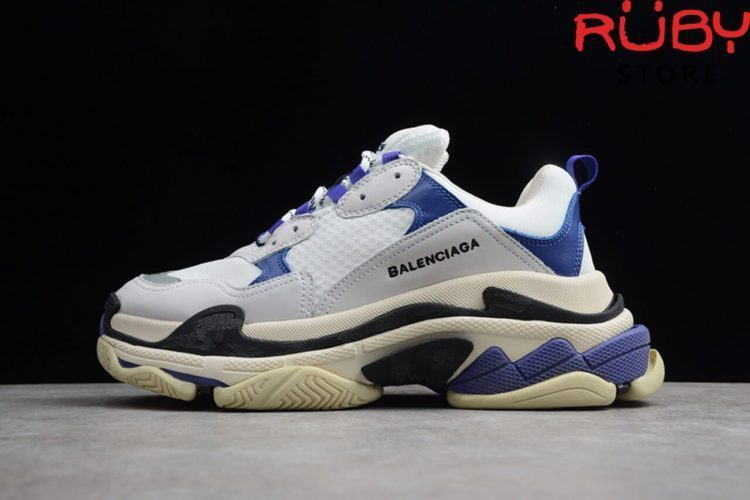 giày balenciaga triple s white purple replica 1:1