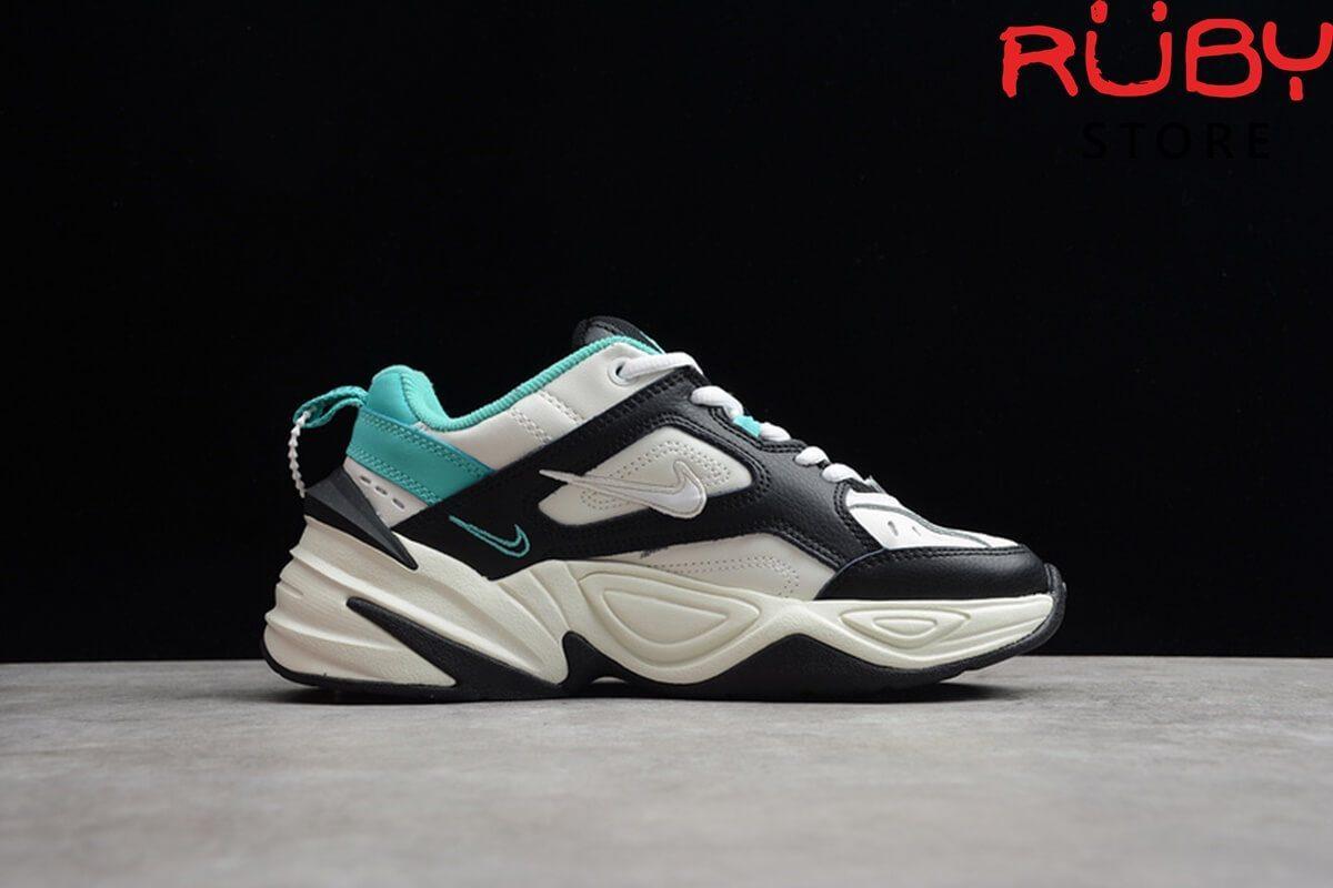 giày nike m2k tekno trắng đen xanh replica 1:1