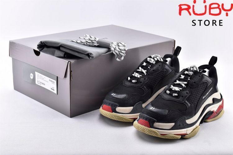 Giày Balenciaga Triple S Black Red Replica 11 Like Real 99,9% (Bản Best) 2019