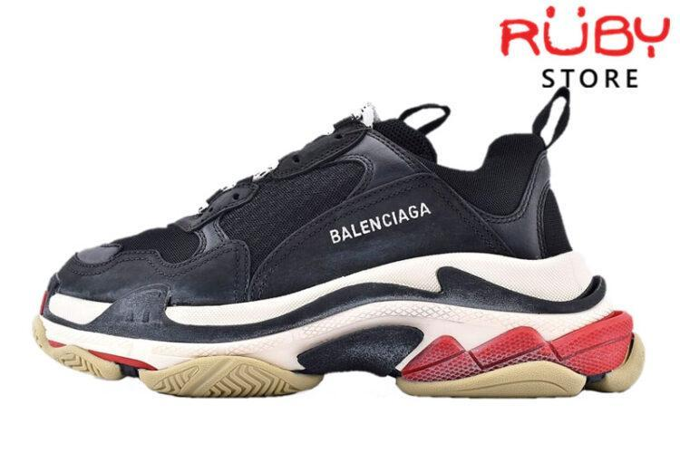 Giày Balenciaga Triple S Black Red Replica 1:1 Like Real 99,9% (Bản Best) 2019