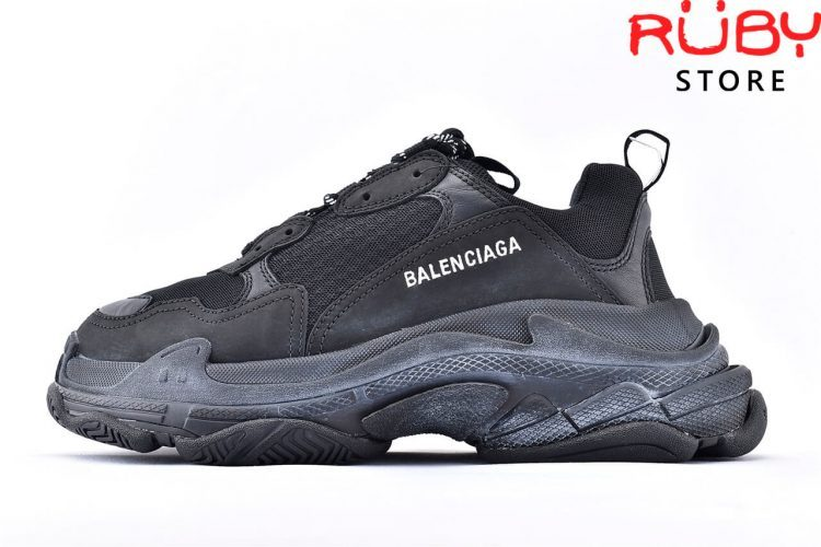 Giày Balenciaga Triple S Black Replica 1:1 Like Real 99,9% (Bản Best) 2019