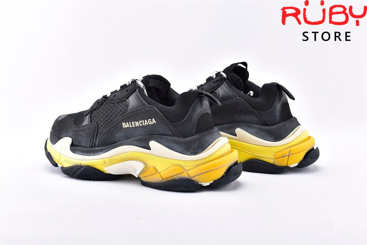 Giày Balenciaga Triple S Black Yellow Replica 1:1 Like Real 99,9% (Bản Best) 2019