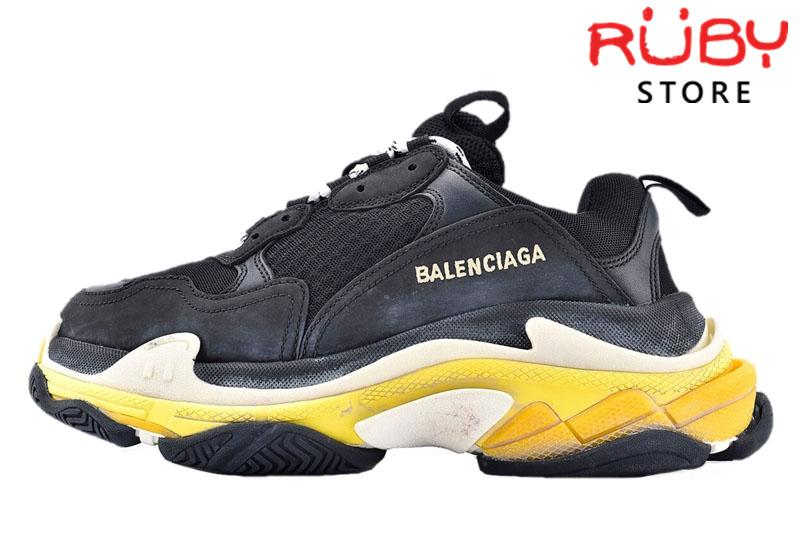 Giày Balenciaga Triple S Black Yellow Replica 1:1 Like Real 99,9% (Bản Best)