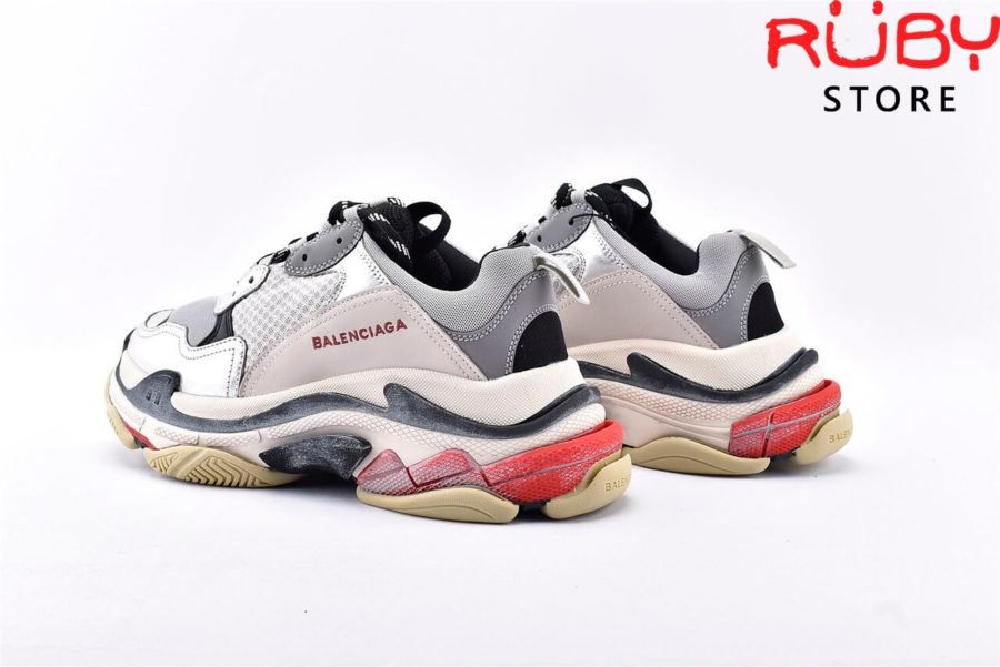 giày balenciaga triple s grey silver replica 1:1 like real 99