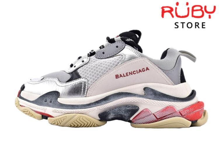 Giày Balenciaga Triple S Bạc Xám Siêu Cấp