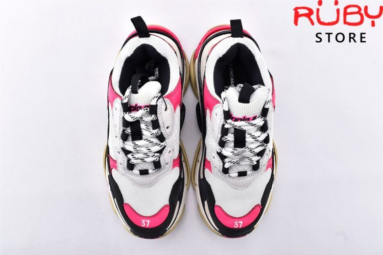 giay balenciaga triple s white black pink replica 1:1 like real 99