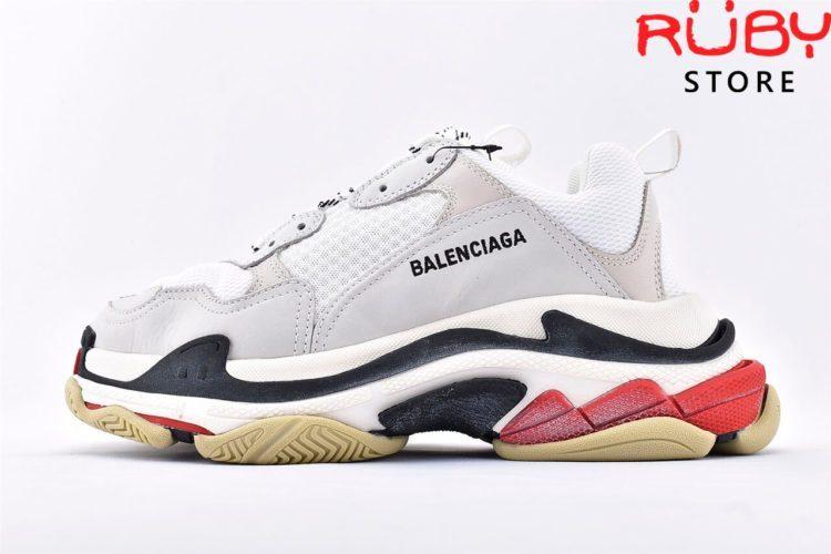 giày balenciaga triple s white red replica 1:1 like real 99%