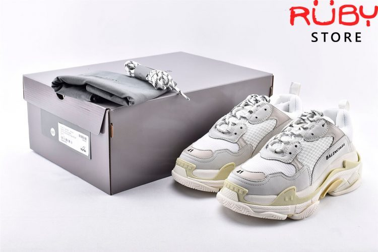 Giày Balenciaga Triple S White Replica 1:1 Like Real 99,9% (Bản Best)