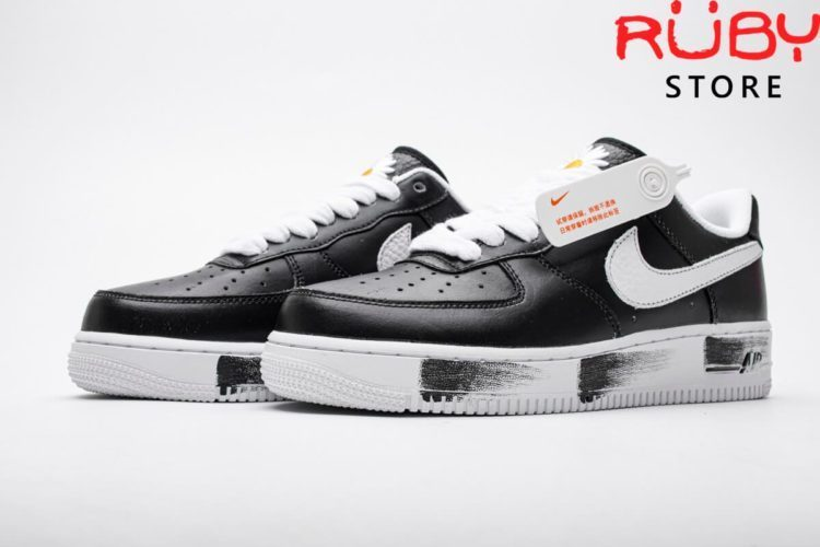 giày peaceminusone x nike air force 1 para noise black white
