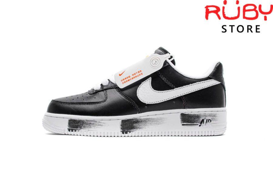 giày peaceminusone x nike air force 1 para noise black white