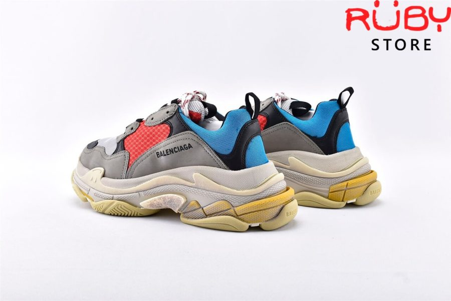 giày balenciaga triple s blue red replica 1:1 like real 99