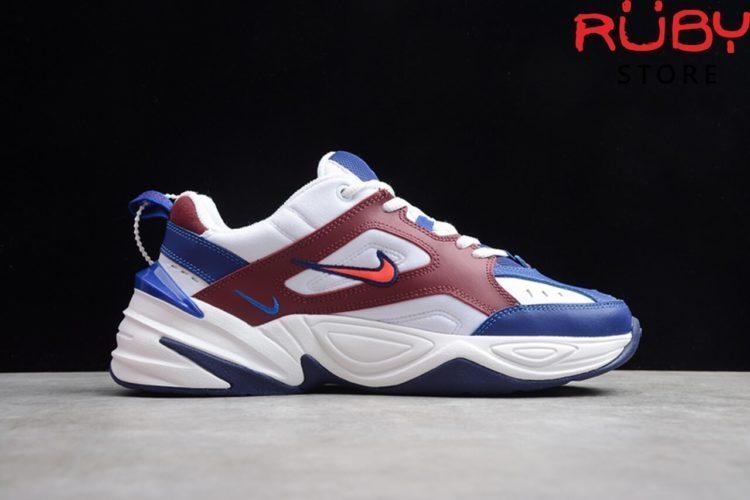 giày nike m2k tekno trắng đỏ xanh replica 1:1 ở hcm