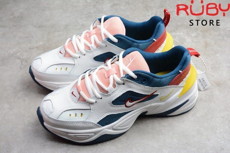 giày nike m2k tekno trắng hồng xanh replica 1:1 ở hcm