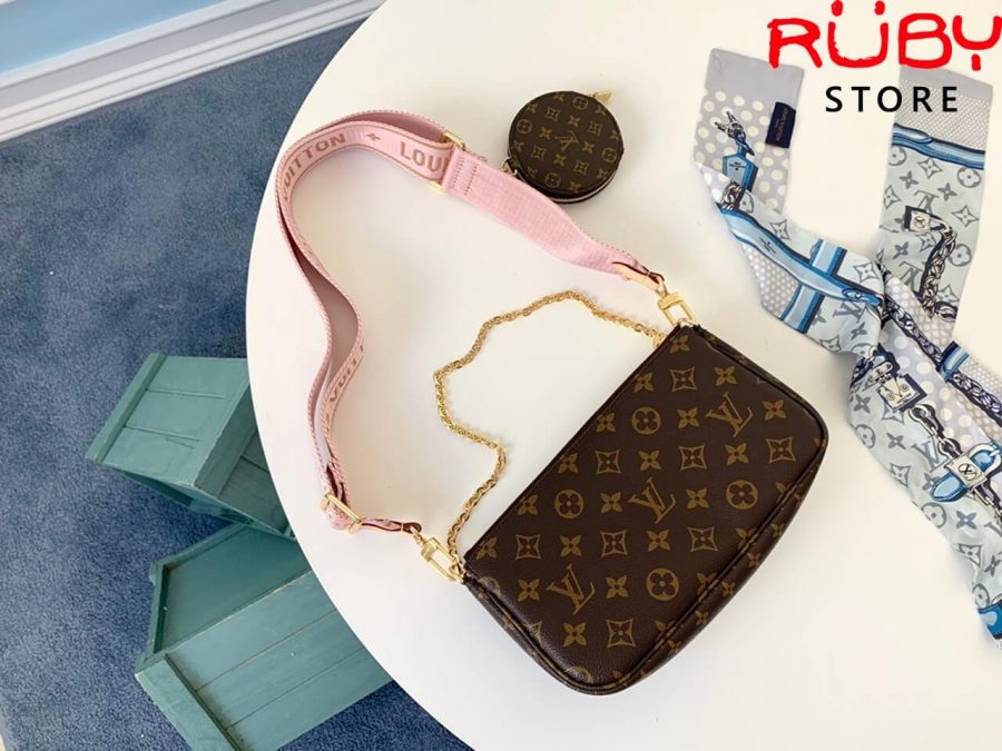 Bộ ba túi lv multi pochette rose pink cao cấp ở hcm
