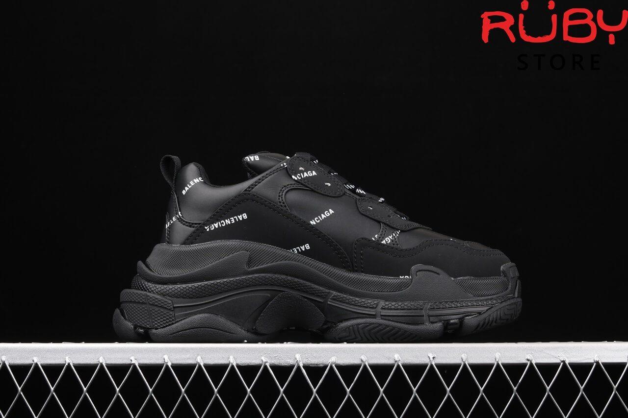 giày balenciaga triple s replica 1:1 đen 2020