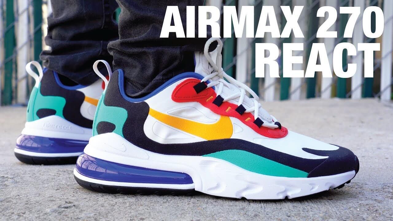 Giày Nike Air Max 270 React Replica đàn hồi hơn | Ruby Store