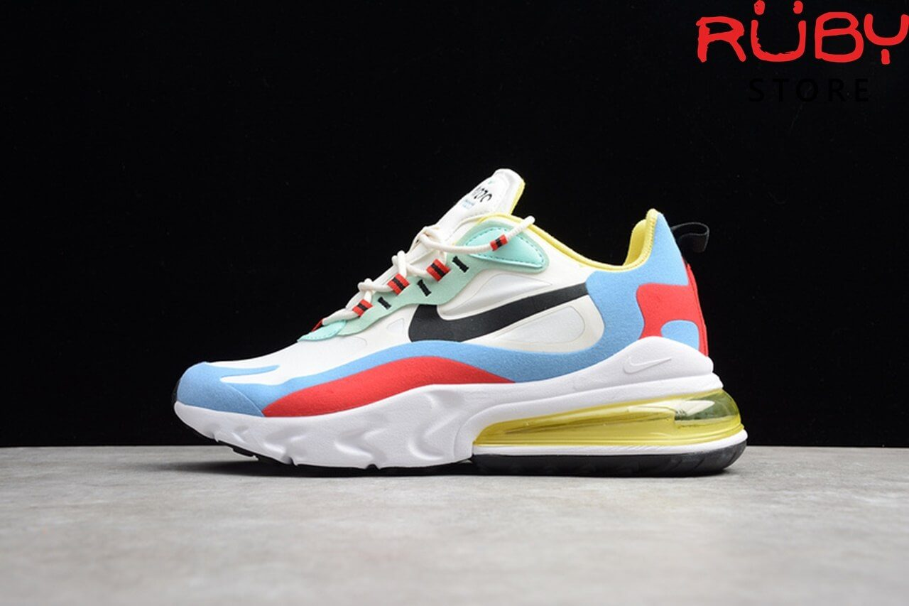 giày nike airmax 270 react trắng xanh replica ở hcm