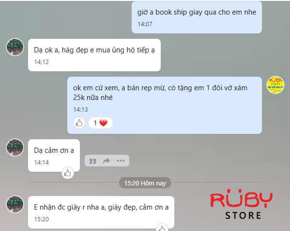Review khách hàng Ruby Store