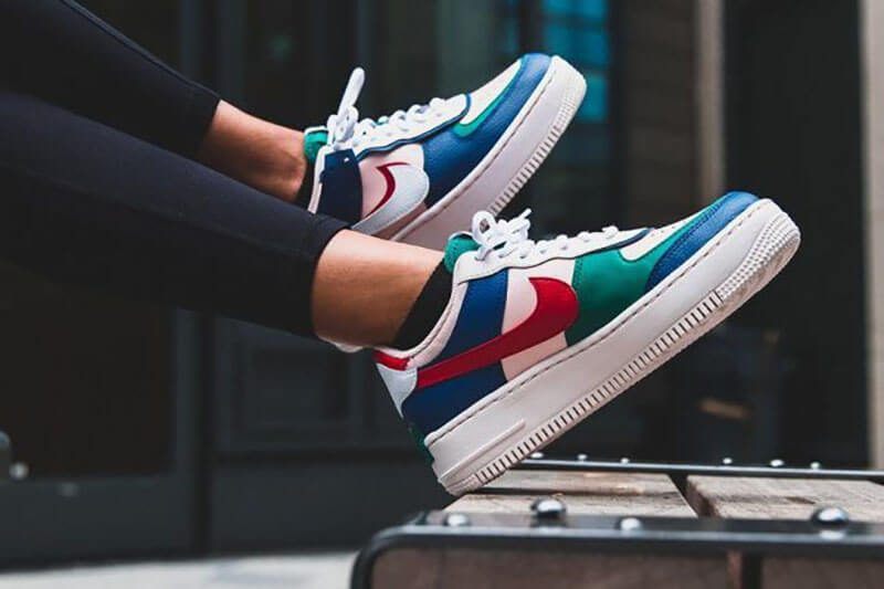 Giày Nike Air Force 1 Shadow - Mystic Navy/Echo Pink/Gym Red/White