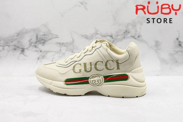 Giày Rhyton logo leather sneaker replica