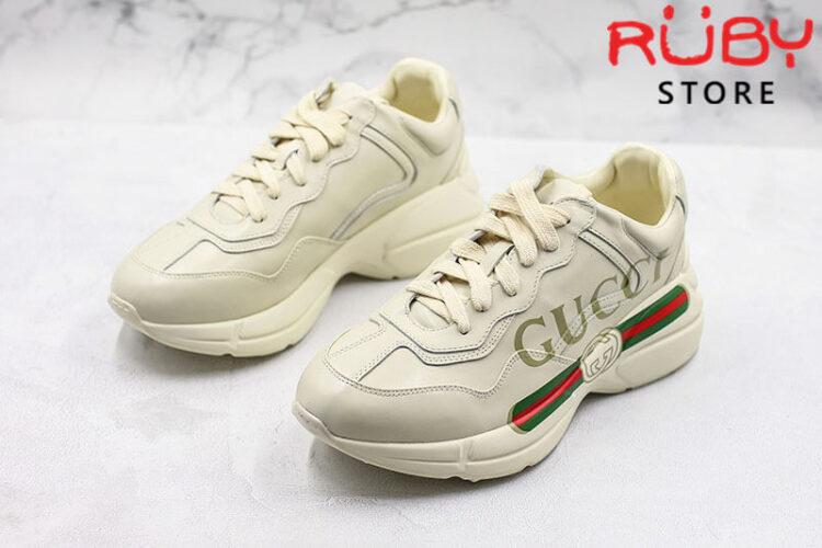 Giày Rhyton logo leather sneaker replica