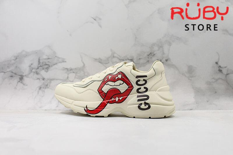 Giày Gucci Rhyton sneaker with mouth print