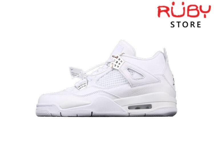 Giày Air Jordan 4 Retro Pure Money Trắng Full
