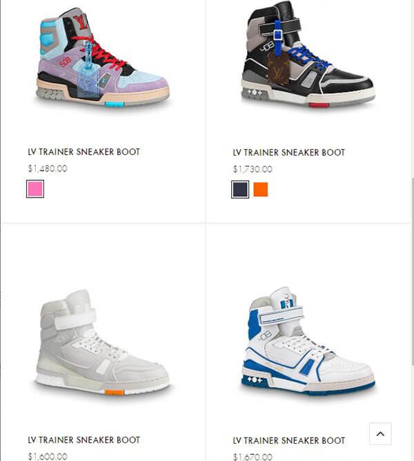 Giày LV Trainer Sneaker Boot