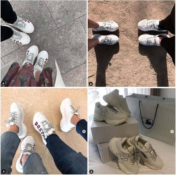 Giày MLB phối đồ cho cặp đôi, tình nhân