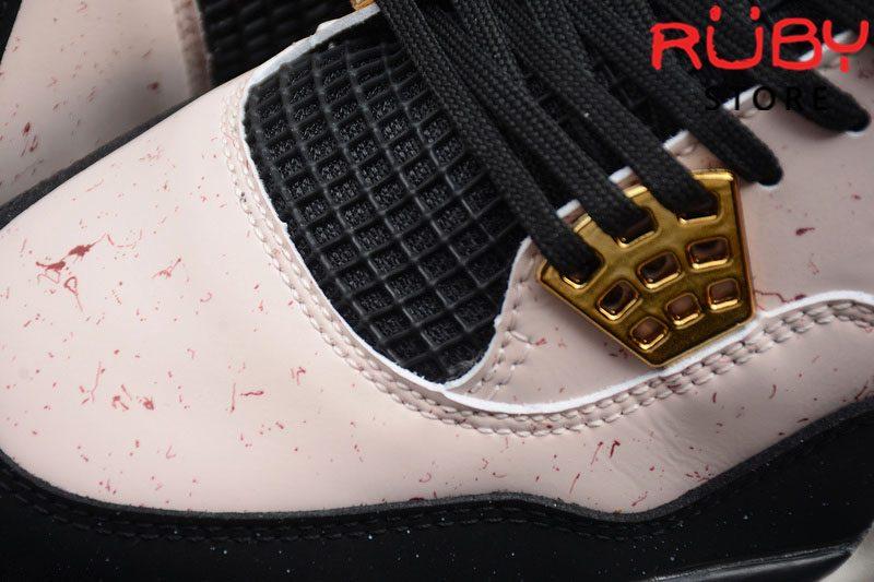 Giày Air Jordan 4 Retro Silt Red Splatter Đen Đỏ