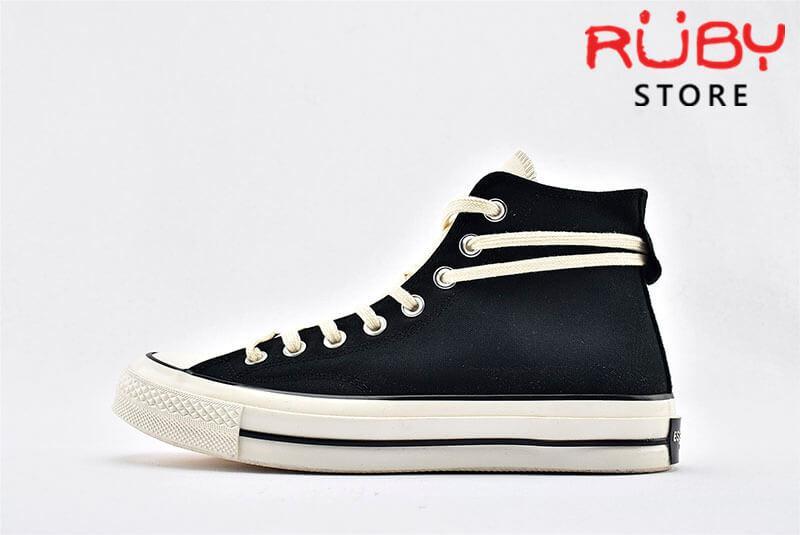 giày Converse x Fear of God Essentials màu đen nhìn bên trái