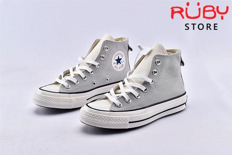 Đôi giày Converse x Fear of God Essentials màu xám góc nhìn bên trái